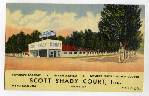 Scott Shady Court Postcard